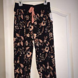 Comfy Floral Print Light Sweat Pants